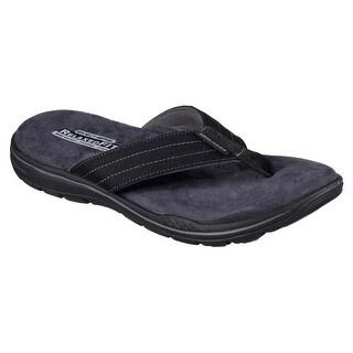 Skechers 65090 BLK Men's EVENTED-ROSEN Sandal