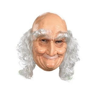 Disguise Old Man Adult Vinyl Mask - beige