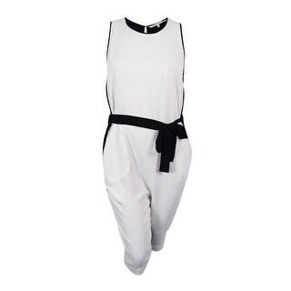 Rachel Roy Women's Sleeveless Belted Jumpsuit - xL