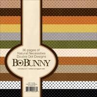 "Natural Necessities - Bobunny Double Dot Paper Pad 6""X6"" 36/Pkg"
