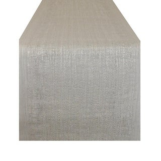 """72"""" x 13"""" Essential Gray Space Dyed Pattern Decorative Table Runner"""