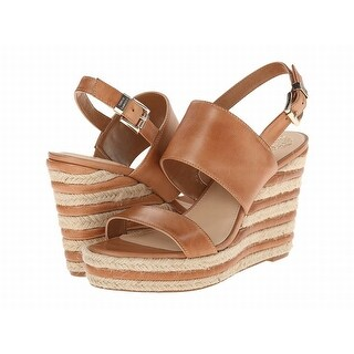 Vince Camuto NEW Brown Shoes Size 9.5M Wedges Textured Sandals