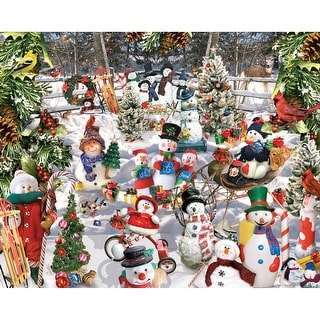 "Jigsaw Puzzle 1000 Pieces 24""X30""-Snowmen"