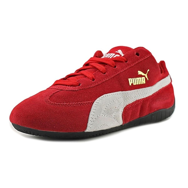 Shop Puma Speed Cat Youth Round Toe Suede Red Sneakers ...