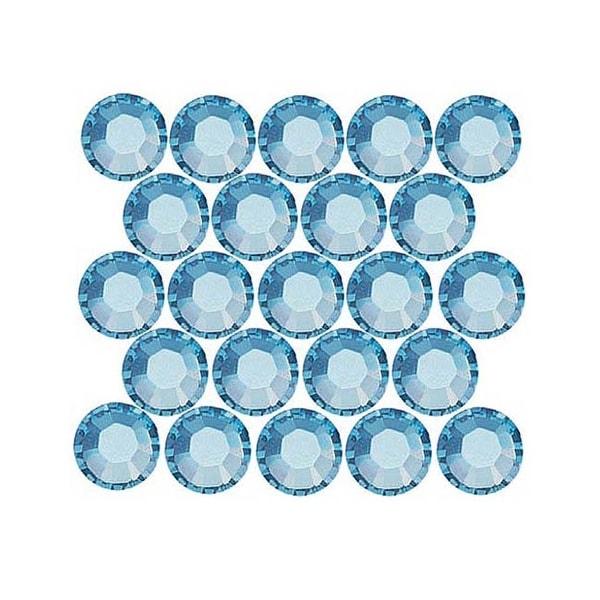 Swarovski Elements Crystal, Round Flatback Rhinestone Hotfix SS12 3mm, 50 Pieces, Aquamarine