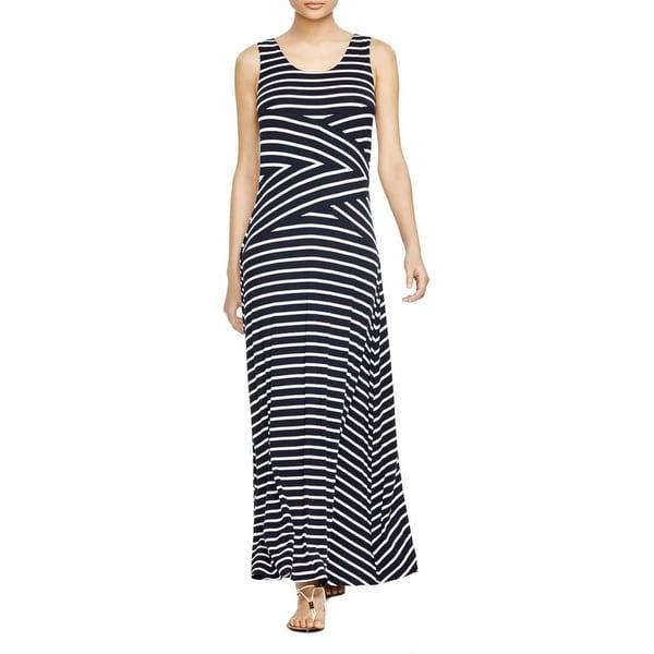 Calvin Klein Womens Maxi Dress KNit Striped