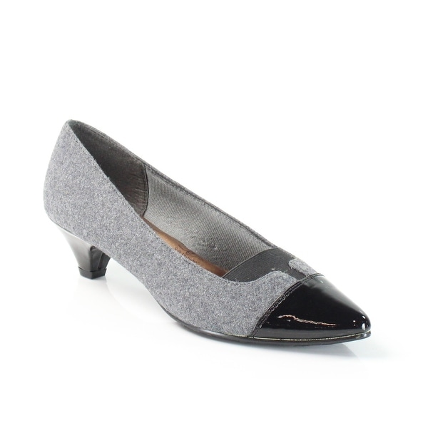 Soft Style NEW Gray Amiah Shoes Size 7.5M Two-Tone Kitten Heels