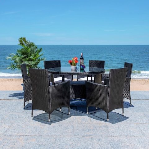 SAFAVIEH Outdoor Living Challe 7-Piece Patio Dining Set