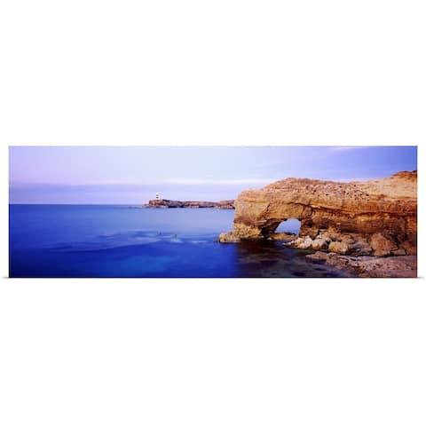 """Rock formations in the sea, Robe, South Australia, Australia"" Poster Print"