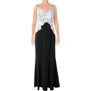 Lauren Ralph Lauren Womens GIGI Cocktail Dress Sleeveless Embroidered