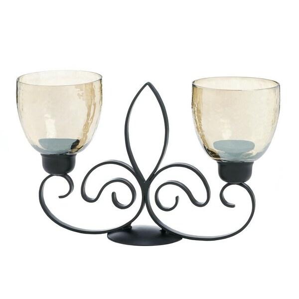 Home Fleur De Lis Dual Candle Holder