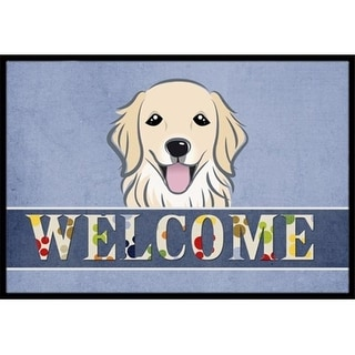 Carolines Treasures BB1391MAT Golden Retriever Welcome Indoor & Outdoor Mat 18 x 27 in.