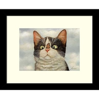 Link to Framed Art Print 'Hugo Hege Cat and Butterfly' by Lowell Herrero 11 x 9-inch Similar Items in Art Prints