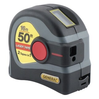 General Tools LTM1 2-in-1 Laser Tape Measure, ABS Plastic