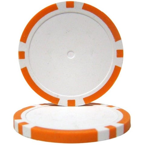 14 g Blank Poker Chips, Orange