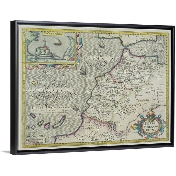 Map Of Africa Today.Shop Antique Map Of West Africa With Present Day Morocco And Canary