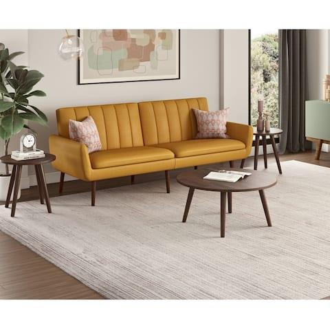 Carson Carrington Profumo Linen Convert-a-Couch Sofa