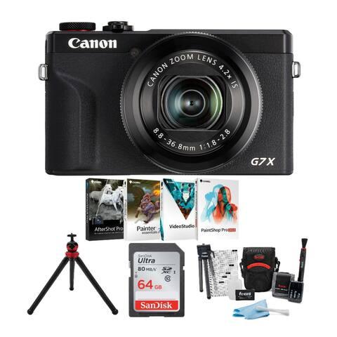 Canon Powershot G7X Mark III Digital Camera Black w/ 64GB Card Bundle