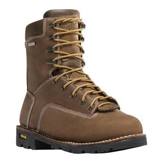 "Danner Men's Gritstone 8"" Work Boot Brown Full Grain Leather"