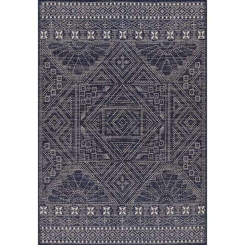 Momeni Riviera Geometric Indoor Outdoor Rug
