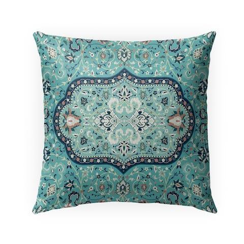 EMPIRE TEAL Indoor-Outdoor Pillow By Marina Gutierrez