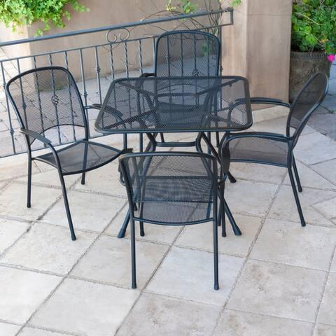 Royal Garden - Patio Steel Dining Set - Nova Collection - Black
