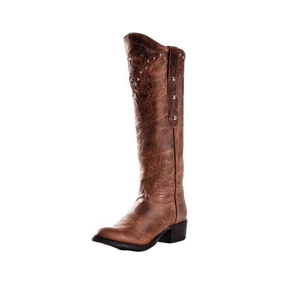 Johnny Ringo Western Boots Womens Giselle Mad Dog Bone