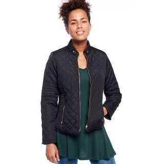NE PEOPLE Women's Lightweight Fleece-lined Quilted Zip Jacket (S-XXXL) (Option: Brown)