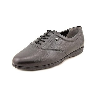 Easy Spirit Motion Women D Round Toe Leather Black Oxford