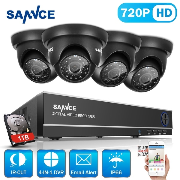 SANNCE 8CH 720P HD Video Security Cameras System with 1080N HD DVR