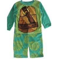 Nickelodeon Boys Green Ninja Turtles 2 Pc Pajama Set 8-10