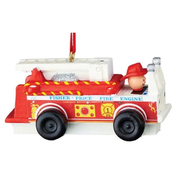 """Department 56 Fisher-Price """"Fire Truck"""" Christmas Ornament #4045025 - RED"""