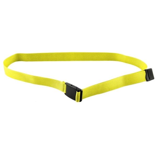Unisex Outdoor Exercise Nylon Adjustable Canvas Web Waist Belt Yellow