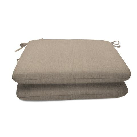 18-inch Square Solid-color Sunbrella Outdoor Seat Cushions (Set of 2)