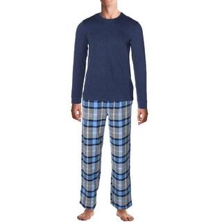 Kenneth Cole Reaction Mens Pajama Set Gift Set Crew Neck