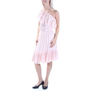 REBECCA TAYLOR $295 Womens New 1338 Pink Ruffled Blouson Dress 6 B+B