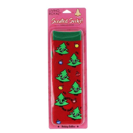 Tree Vanilla Scented Socks - Red