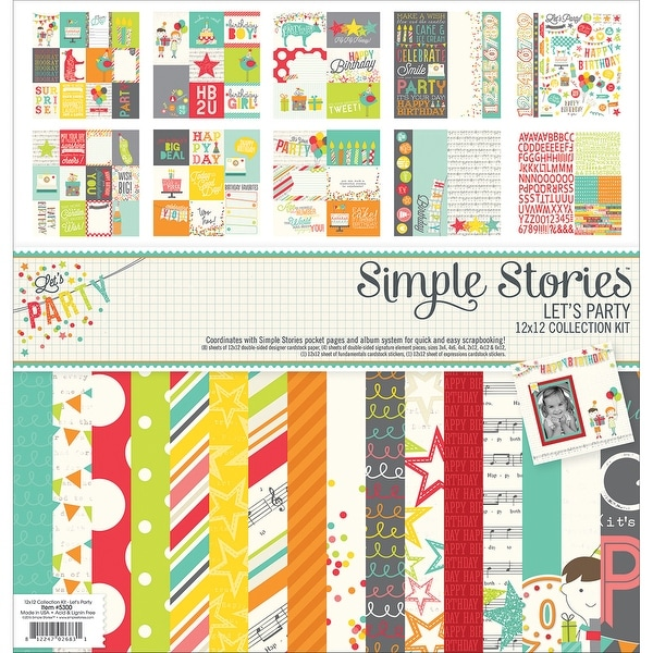 "Simple Stories Collection Kit 12""X12""-Let's Party"