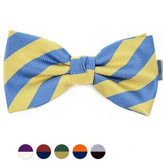 Stripes College Banded Bow Tie