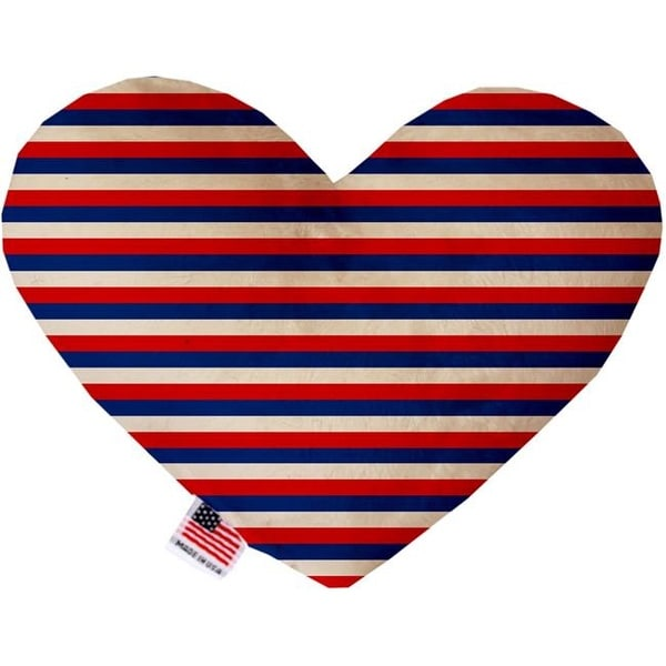 shop mirage pet 1142 tyht6 6 in patriotic stripes heart dog toy