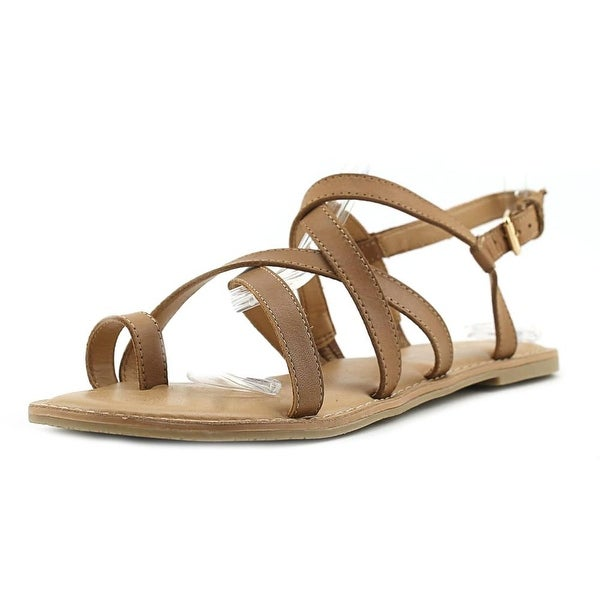 Franco Sarto Jared Women Open-Toe Leather Brown Slingback Sandal