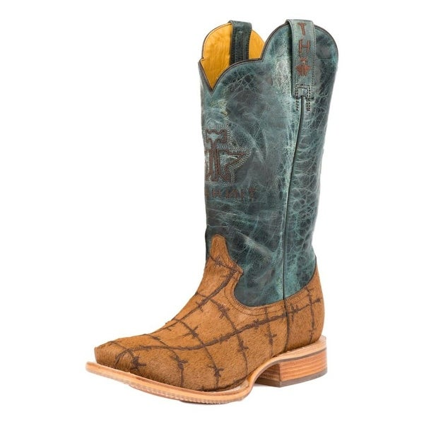 Tin Haul Western Boots Mens Cowboy Barbed Wire