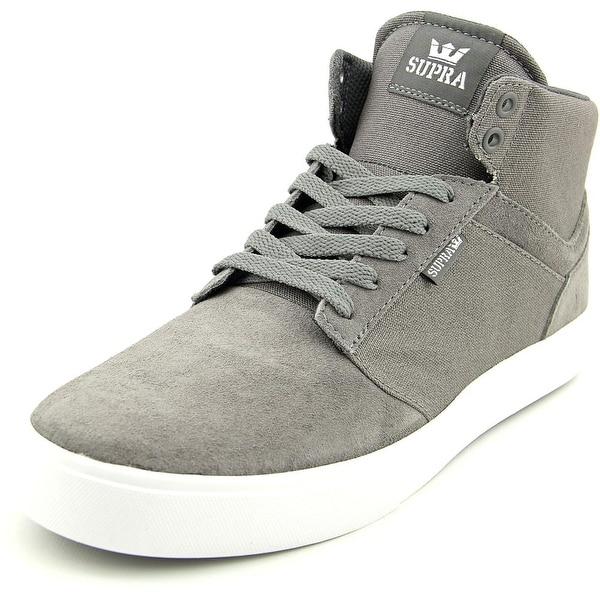 Supra Yorek Hi Men Round Toe Canvas Gray Sneakers