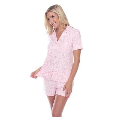 White Mark Women's Short Sleeve Pajama Set