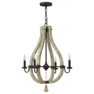 Fredrick Ramond FR40574 4 Light 1 Tier Chandelier from the Middlefield Collection