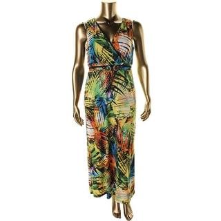 NY Collection Womens Matte Jersey Sleeveless Maxi Dress - S