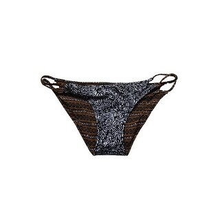 Volcom Juniors Brown Black Henna Spirit Reversible Strappy Bikini Bottom XS