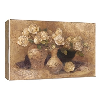 "PTM Images 9-153929  PTM Canvas Collection 8"" x 10"" - ""Roses in Jugs"" Giclee Flowers Art Print on Canvas"
