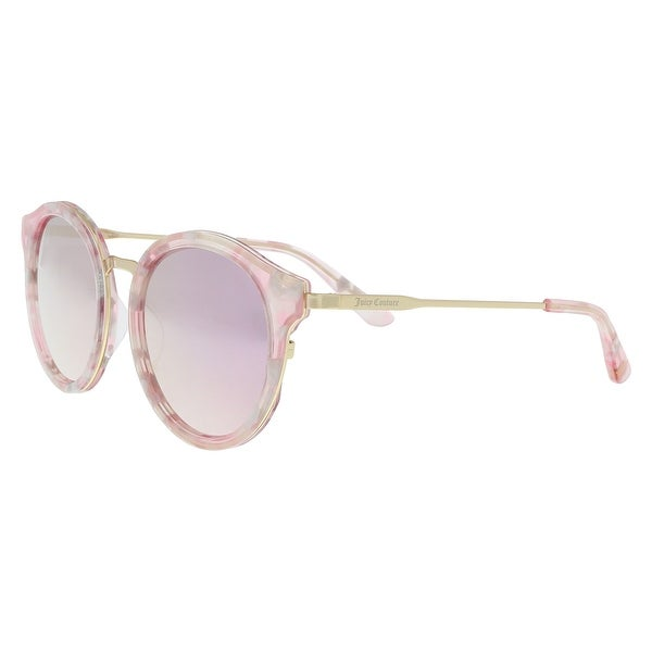 14b3878bc995be Shop Juicy Couture JU596 S 0S45 0J Pink Gold Round Sunglasses - 52 ...