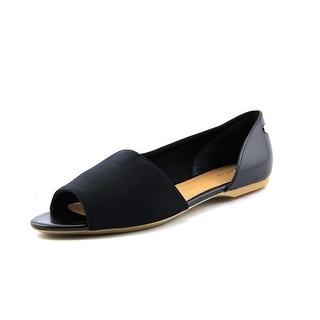 Calvin Klein Rezi Women Open-Toe Synthetic Black Flats